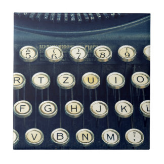 Old Vintage Typewriter Keyboard Keys Tile
