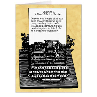 Old Vintage Typewriter Retirement Large Card