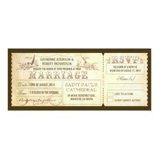 old vintage wedding invitations - tickets & RSVP