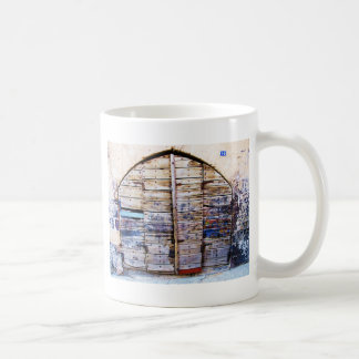 Old Vintage Wooden Greek Door, Crete Greece Coffee Mug