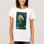 Old Violin Still Life by Harnett, Vintage Fine Art T-Shirt