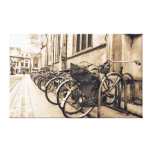 Old Vntage Bikes Bicycles in Oxford Canvas Canvas Prints