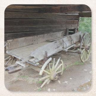 Old Wagon and Barn Coaster Set
