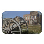 Old wagon and store fronts in Bodie State Tough iPhone 3 Case