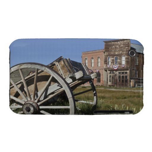 Old wagon and store fronts in Bodie State iPhone 3 Case-Mate Case