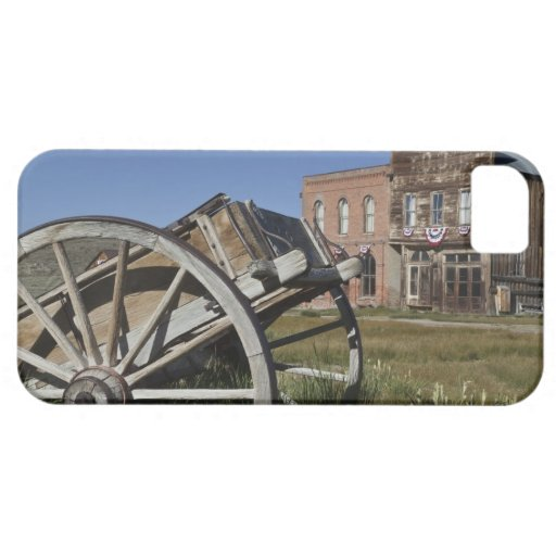 Old wagon and store fronts in Bodie State iPhone 5 Covers