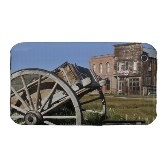 Old wagon and store fronts in Bodie State iPhone 3 Cover