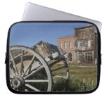 Old wagon and store fronts in Bodie State Laptop Computer Sleeve