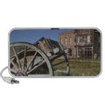 Old wagon and store fronts in Bodie State Travelling Speaker