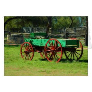 Old Wagon at Sauer-Beckmann Farmstead Card