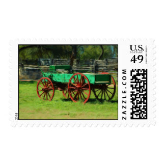 Old Wagon at Sauer-Beckmann Farmstead Postage