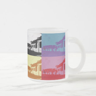 OLD WALES 10 OZ FROSTED GLASS COFFEE MUG