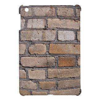 Old wall from gray and brown bricks cover for the iPad mini
