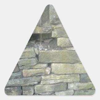 Old Wall, Stone, Bricks Triangle Sticker