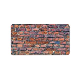 Old Wall Texture Of Bricks Address Label