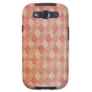 Old wallpaper, faux red diamond pattern galaxy s3 cover