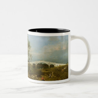 Old Walton's Bridge, 1755 (oil on canvas) Two-Tone Coffee Mug
