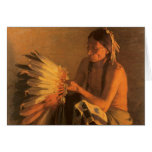 Old War Bonnet by Joseph Henry Sharp Greeting Cards