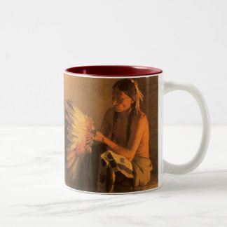 Old War Bonnet by Joseph Henry Sharp Coffee Mugs