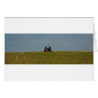 Old Warrior Resting in the Field Birthday Card