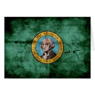 Old Washington state flag Card
