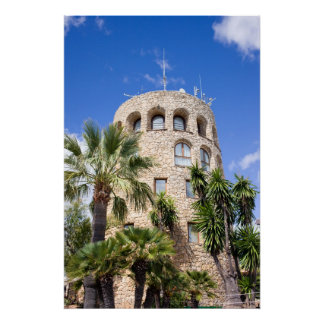 Old Watch Tower in Puerto Banus Poster