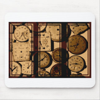 Old Watch Triptych Mouse Pad