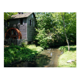 Old Water Mill and Creek Postcard