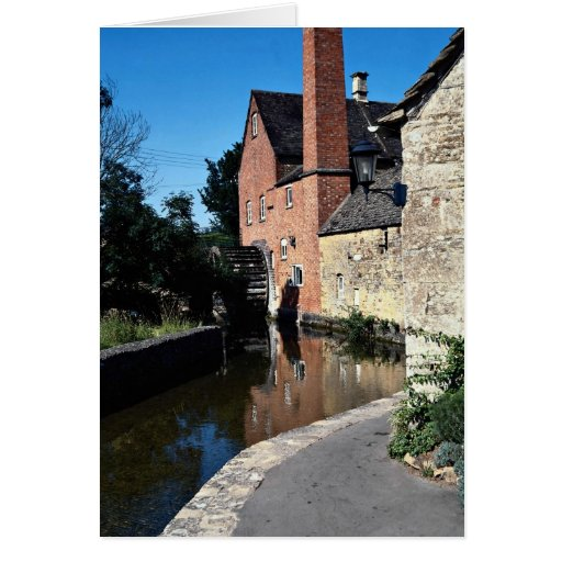 Old water mill, Lower Slaughter, Cotswolds, Englan Greeting Card