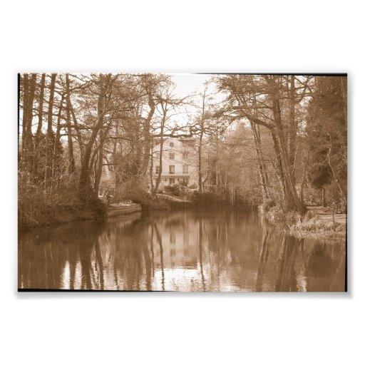 Old water mill photo