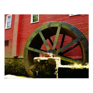 Old Water Wheel at Kirby's Mill Postcard