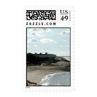 Old Waterfront Fort Guarded the Coast Postage Stamp