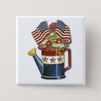 Old Watering  Can Pinback Button