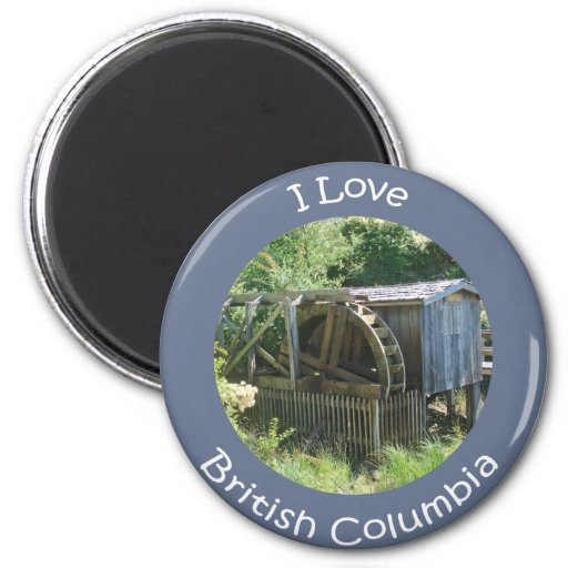 Old Waterwheel Refrigerator Magnets