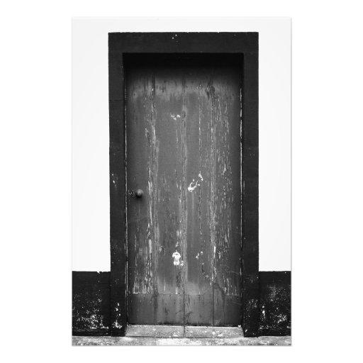 Old weatherbeaten door photographic print