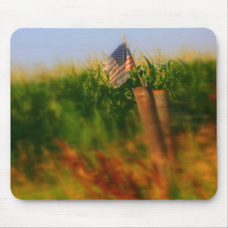 Old Weathered American Flag mousepad