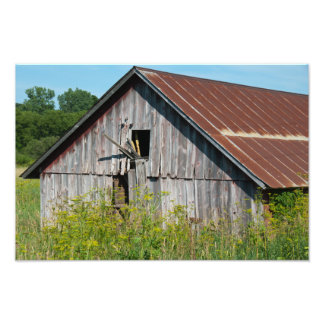 Old Weathered Barn Photography Print Photo