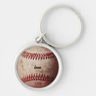 Old Weathered Baseball Personalized Key Chain