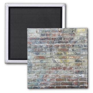 Old Weathered Brick Wall Texture 2 Inch Square Magnet