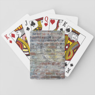 Old Weathered Brick Wall Texture Deck Of Cards