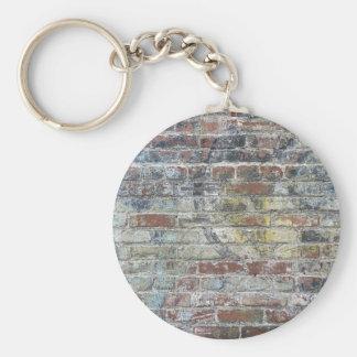 Old Weathered Brick Wall Texture Keychain
