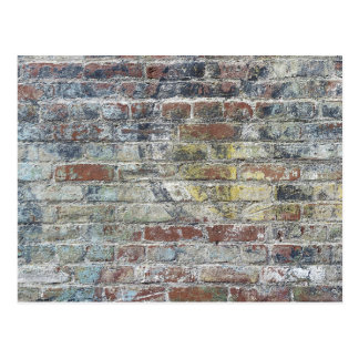 Old Weathered Brick Wall Texture Postcard