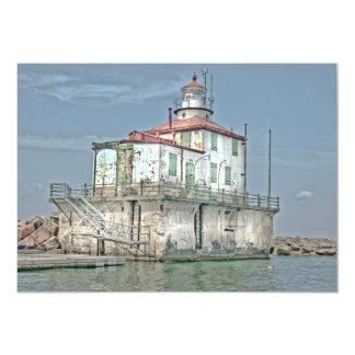 Old Weathered Lake Lighthouse Card