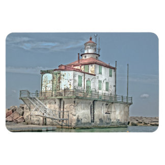 Old Weathered Lake Lighthouse Magnet