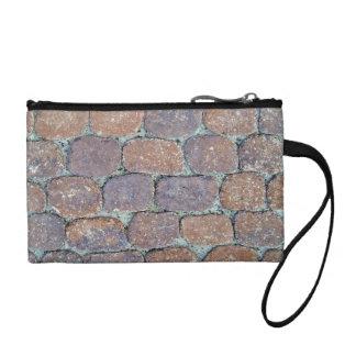 Old Weathered Stone Pavement Background Change Purse