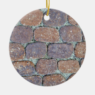 Old Weathered Stone Pavement Background Ceramic Ornament