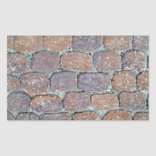 Old Weathered Stone Pavement Background Rectangular Sticker