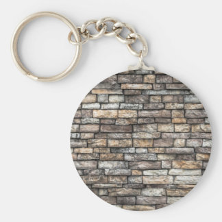 Old Weathered Stone Wall Texture Keychain