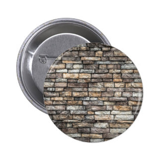 Old Weathered Stone Wall Texture Pinback Button