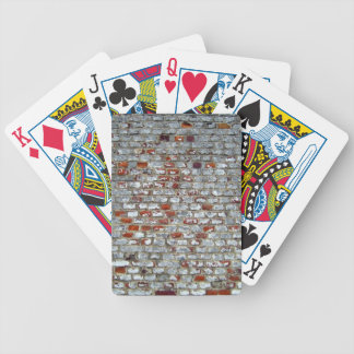 Old Weathered White Paint Wall Bicycle Playing Cards